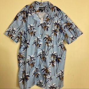 Banana Republic Slim Fit Hawaiian Shirt XL Tall